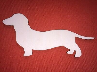 10 large DOG n2 PLAQUE SHAPES PLAIN UNPAINTED BLANK WOODEN EMBELLISHMENTS CRAFT