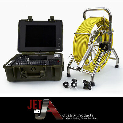 60m sewer drain camera,512 hz, 23mm head,lcd screen,counter,keyboard,record