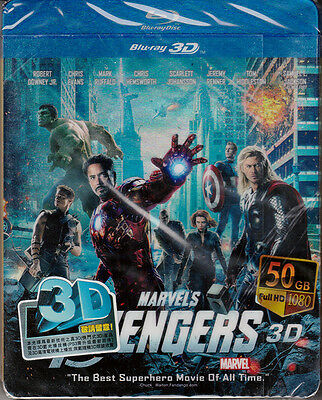 MARVEL'S THE AVENGERS 3D Bluray in Steel Metal Case