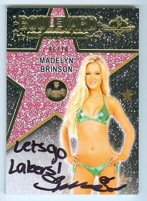 "Madelyn Brinson ""lets Go Lakers Inscription Autograph /10"" Benchwarmer Hollywood"