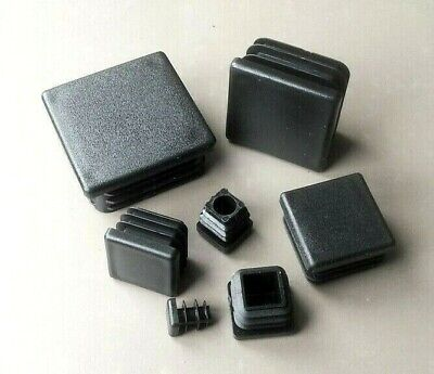 Square Plastic End Caps Blanking Plugs  Tube/ Box Section Inserts  /Black