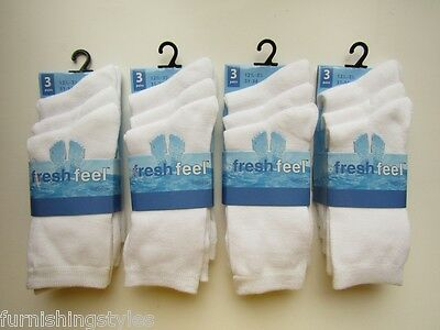 Kids Children Girls Plain White Socks 6 Pairs Soft & Comfortable