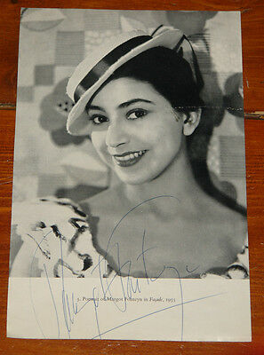 Margot Fonteyn Authentic Beautiful Hand Signed Book Page