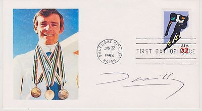 Signed Olympic Skier Jean-Claude Killy Fdc Autograph First Day Cover