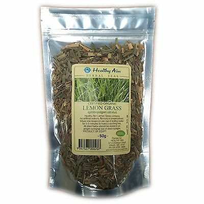 Certified Organic LEMON GRASS ~ 50g HERBAL TEA Premium ~ Dried Herbs