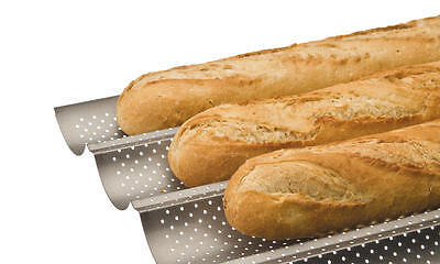 Backform Für 4 Baguettes Brotform Brot Backen Plaque Tuiles Molde Moka Antihaft