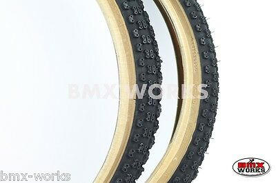 "Cheng Shin Comp 3 Black with Skinwall Sides BMX Tyres 20"" x 1.75"" Sold In Pairs"