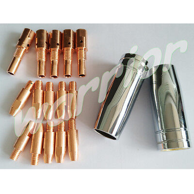 Contact Tips Holder Nozzles Consumables Kit For MB 25AK MIG Welding Torch 0.8