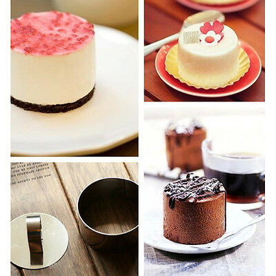 New Lovely Stainless Steel Mousse Cake Mold Layer Slicer Cutter Mould Baking