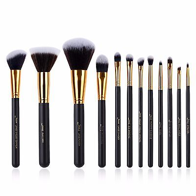Jessup 10/12pcs Makeup Brushes Set Kabuki Foundation Eyeshadow blend Brush Tools