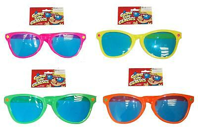 Big Sunglasses Oversize Neon Colours Fancy Dress Party PhotoBooth Comic Stag Hen