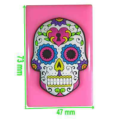 Tattoo Skull Flowers & Heart Padlock Kitsch Silicone Mould by Fairie Blessings