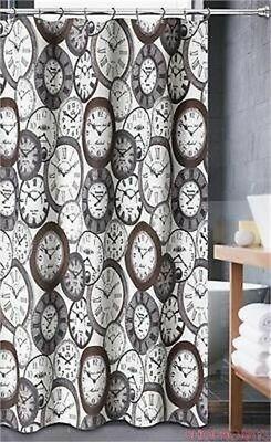 Luxa Hotel Collection Fabric Shower Curtain, Valentina Grey, 70x72