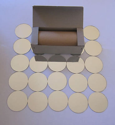 50 small round mirrors. 2 3/16 Inch (5.08cm) X 1/16 Inch (.08cm)