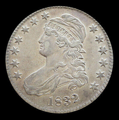 1832 Silver Large Date Large Letters Capped Bust Half Dollar Coin Au Condition