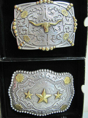 ANDWEST - Belt Buckle Collection - Silver and Gold Plated - Various Styles - New