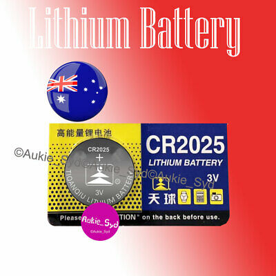 2X CR2025 Blister Packed Lithium Battery Button Cell Batteries Local Stock