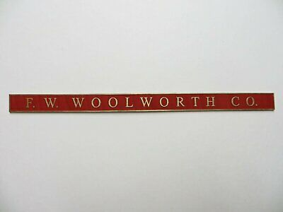 F W Woolworth Laser engraved Custom Made Sign O Scale 1/48 store unpainted.