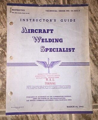 Aircraft Welding Specialist Instructor's Guide
