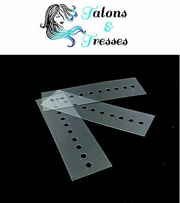 1/5/10 Small Multi-Hole Heat Protector Shields / Templates for Hair Extensions