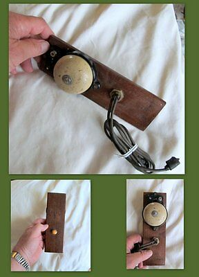 Vintage  Bell/Ringer Attached to board with Ringer Button