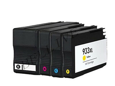 4 CARTUCCE PER STAMPANTE HP 932XL 933XL OfficeJet 7610 e-All-in-One, 6700, 6600