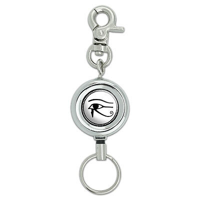 Eye of Horus Lanyard Belt ID Badge Key Retractable Reel Holder
