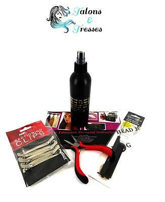 5 piece Italian Keratin Bonded Hair Extensions Removal Kit (Human or Synthetic)