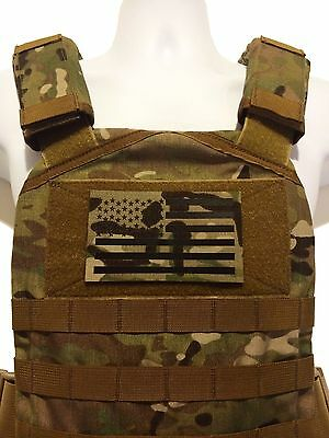"""LARGE 5x3"""" Infrared reflective Multicam IR US Flag Patch Special Forces SF patch"""