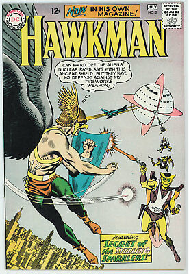 Hawkman #2 5.0 White Pages Silver Age