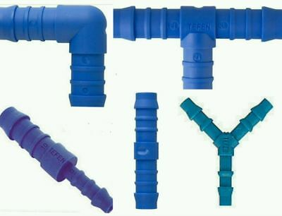 19mm Nylon Barbed Silicone Hose Connector Tefen Fuel Pipe Joiner SE