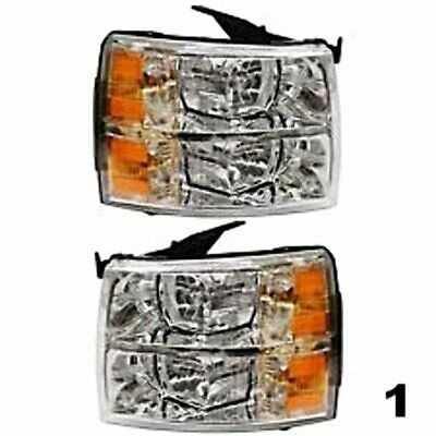 07-13 Silverado (except 07 Classic) Left & Right Headlight Assemblies (pair)