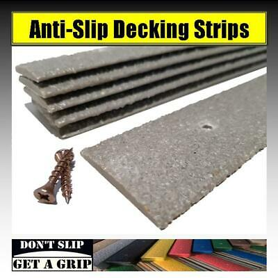 Anti Slip Decking Strips - Non Slip Grip for Timber Decking Pack of 10 x 600mm