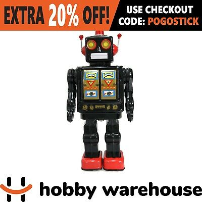 Mr D Cell Walking Electron Retro Vintage Robot - Black
