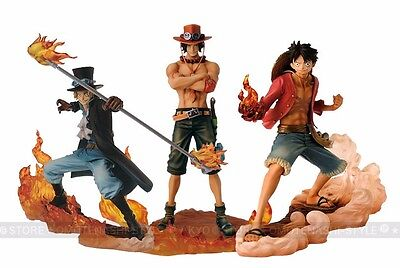 Anime One Piece DXF Brotherhood II Luffy Sabo Ace 3pcs PVC Figure New in Box