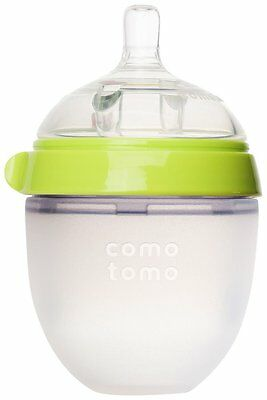 Comotomo 5 oz Slow Flow Bottle - Green