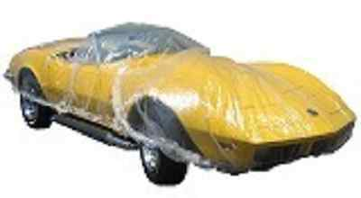5 pack of Universal Disposable Plastic Car Covers 12' X 22'