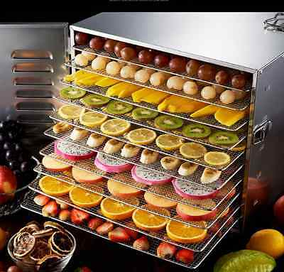 Food dehydrator fruit drying machine vegetable dryer fruit dryer 10 layers