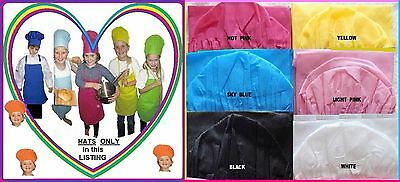 1x Kids CHEF HAT Cooking School Birthday Party Many Colours Childs Size 52-55cm