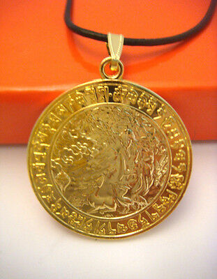 Feng Shui Increase Life Force Medallion Pendant Necklace Fengshui Gifts W1021-1