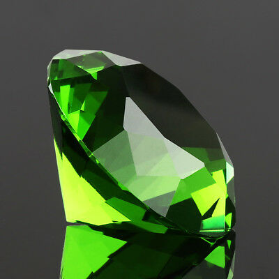 40mm Green Crystal Diamond Shaped Paperweight Wedding Decor Gifts Lady Favor