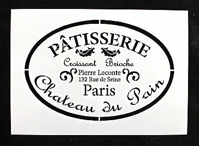 Reusable Stencil Vintage Patisserie. Furniture Fabric Vintage French Shabby Chic