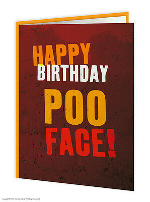 Brainbox Candy Birthday greeting cards funny novelty cheeky joke humour poo face