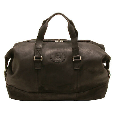 Rowallan - Brown Cowhide Leather Travel Bag/Holdall with Shoulder Strap