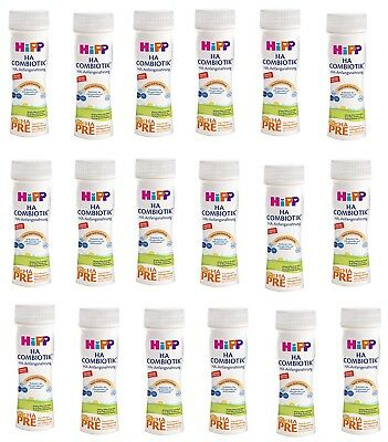 18 Bottle Hipp HA Combiotic HA PRE First Infant Milk ready to drink New Germany