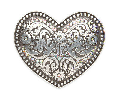 ANDWEST - Heart Buckle with Rhinestones - 933 - New in Box