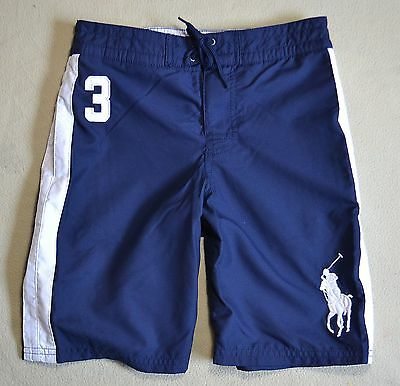 Nwt Boys Polo Ralph Lauren Newport Navy Swimming Suit Board Shorts Sz 5 6 7 S L