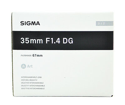 Sigma Art 35mm F/1.4 DG HSM Lens For Sony A-mount