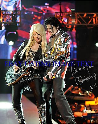 Orianthi Panagaris Signed Autographed 8X10 Rp Photo This Is It Michael Jackson