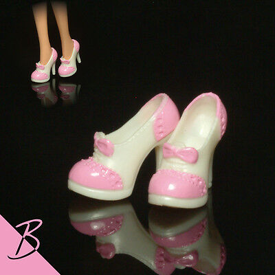 Shoes/Boots White/Pink High Heels for Mattel Barbie NEW #0050